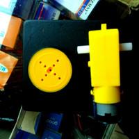Motor dc gearbox 3 sd 6V velg ban slim smartcar arduino robot