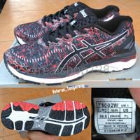 TERLARIS Sepatu Asics Gel Kayano 23 Lite Show T5002W Black Red Origin