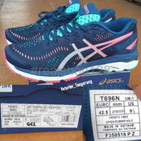 TERLARIS Sepatu Asics Gel Kayano 23 Lite Show T696N 9093 Navy Pink Or