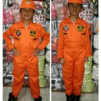 Baju anak profesi pilot pesawat tempur no.4,5,6