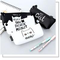 Pencil Case Kotak Pensil Silicon Cat Tas Kosmetik