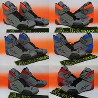 Sepatu drag alpinestar new abu merah - abu biru - abu orange