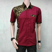 Hem Baju Batik Pria Kombinasi HB124