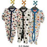 LIBBY PREMIUM 3 pics sleepsuit jumper newborn tutup kaki 0-3 bulan