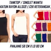 TANKTOP / SINGLET WANITA tank top basic polos fashion