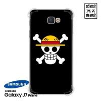 One Piece Luffy Casing Samsung Galaxy J7 Prime Anti Crack Case HP