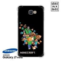 Minecraft Casing Samsung Galaxy J7 Prime Anti Crack Anticrack Case HP
