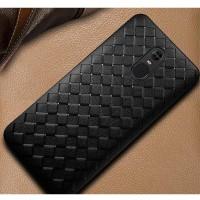 Case Xiaomi Redmi Note 4 4X soft back cover casing tpu leather WOVEN - Black