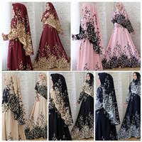 [Real Pict] Set Baju Gamis Wanita ARIMBI Syar'i / Gamis Busui Terbaru