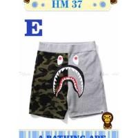 Hm 37 E Celana Pendek Anak Bape Gray Army(Med Size) Celana Anak Import