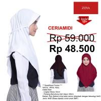 ZOYA CERIA MIDI Kerudung Sekolah / Anak/ Bergo / Hijab Instan