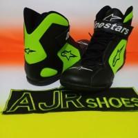 Sepatu drag touring alpinestar hitam stabilo