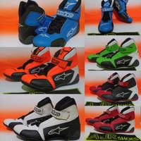 Sepatu drag alpinestar banyak pilihan warna biru-merah-hijau-putih