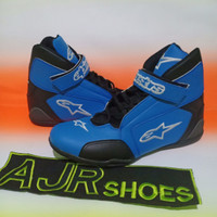 Sepatu drag alpinestar biru hitam New