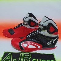 Sepatu drag touring alpinestar merah hitam