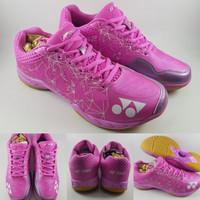 Sepatu Badminton Yonex Aerus 2 Limited LCW Lee Chong Wei pink purple
