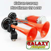 Klakson Terompet 2 Corong + Dinamo PLASMA 12V/ 24V