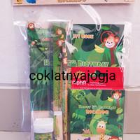 Goodie Bag Isi Buku, Pensil Warna & Alat Tulis Tema Animal Jungle