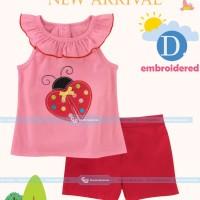 GW262-D - Baju / Kaos Setelan Anak Ladybug Kepik 8T-13T