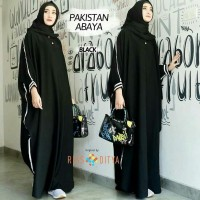 Baju Muslim Gamis Wanita Kaftan Abaya Pakistan Hitam Murah