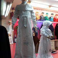 Baju Muslim/Gamis Anak Perempuan Putih Manasik
