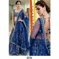 Raja rani baju india lehenga bollywood party setelan rok blouse