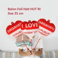 Balon foil love mini merah putih / balon HUT RI / Balon 17 agustus