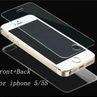 Tempered Glass Iphone 5 5G 5S 5C SE Depan Dan Belakang Anti Gores Kaca
