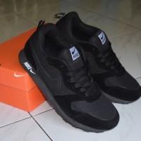 Sepatu Murah Anak Sekolah Nike Md Runner Warna Hitam Polos