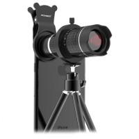 Lensa Tele zoom 14x untuk kamera smartphone HP hape universal tripod