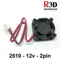 DC Cooling Fan 2510 12v 2pin Brushless kabel 15cm