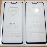 TEMPERED GLASS FULL LEM 5D VIVO V9 VIVO V9 PRO / BLACK