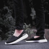 Sepatu Adidas ORIGINAL CloudFoam Slip On Black Women