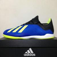 BARU Sepatu Futsal Adidas X Tango 18.3 IN Blue Solar Yellow DB1954 Ori