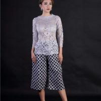 Baju Pesta Wanita Atasan Kebaya Abu Abu Kebaya Pengantin Brokat Modern