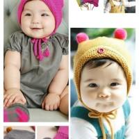 Topi Kupluk Rajut Imut Anak / Bayi Wool Kids Caps