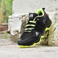 Sepatu Sport Outdoor Adidas AX2 Hitam Hijau Stabilo Premium