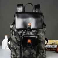 tas ransel pria kulit army - backpack kulit ts647