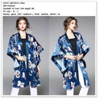 Baju Outer Cardigan Kimono Wanita Jepang Korea Import AB133111 Blue