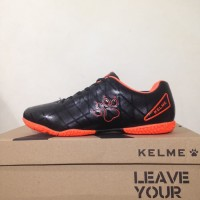 Sepatu Futsal Anak Kelme Star 9 Junior Black Orange 1115244 Original