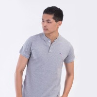 MON AKITA - Hugo Men Polo Shirt Grey - Kaos Polo Pria Abu-Abu