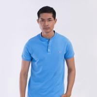 MON AKITA - Hugo Men Polo Shirt Blue - Kaos Polo Pria Biru Muda