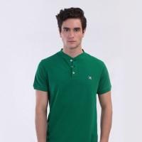 MON AKITA - Hugo Men Polo Shirt Green - Kaos Polo Pria Hijau