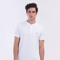 MON AKITA - Hugo Men Polo Shirt White - Kaos Polo Pria Putih