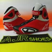 Sepatu drag touring alpinestar k- pro hitam merah jalames putih