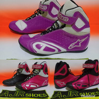 Sepatu drag alpinestar hitam pink - ungu ungu