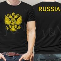 Kaos russia rusia bukan jersey logo hitam baju fans bola piala dunia