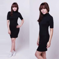 Turtleneck Bodycon Dress