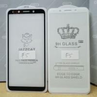 Tempered Glass, Anti Gores Kaca Full Cover Oppo F5 5D - Hitam