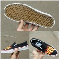 Sepatu Vans Slip On Thrasher PREMIUM QUALITY Slop Black Sneakers Shoes